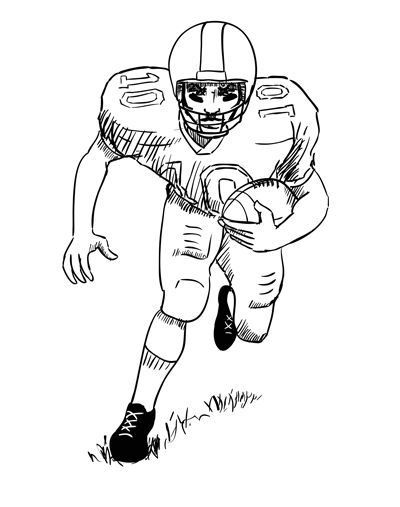 best 25 football player drawing ideas on pinterest - Sports Drawing Pictures
