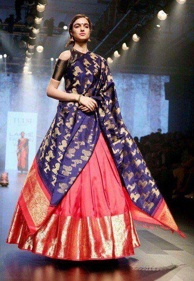 86f326172a How To Style Banarasi Dupatta For A Classic Look   dupatta ideas   Choli  dress, Indian designer wear, Indian wedding wear