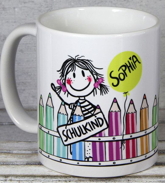 Tassen - Einschulung Geschenk Mädchen - ein Designerstück von Tassen-Geschenke-by-MySweetheart bei DaWanda