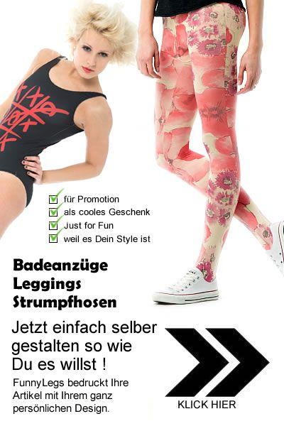 Strumpfhosen oder Leggings selber gestalten - Eigendesign - FunnyLegs