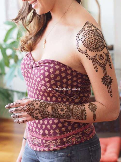 coachella_henna_shoulder.jpg. Master Henna artist Darcy is available travel for your destination wedding events in California, Mexico, Central American and Europe. Henna Lounge makes and uses only 100% natural henna paste. Pricing begins at $125/hour. Contact her at 415-215-6901 or info@hennalounge.com. Indian Weddings Inspirations. http://pinterest.com/HennaLounge/