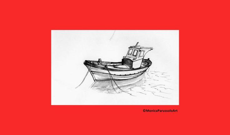 Pesci del Mediterraneo/stampa di illustrazione originale/barca di pescatori/MonicaParussoloArt di MonicaParussoloArt su Etsy