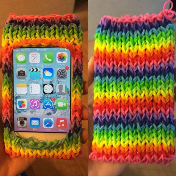 Rainbow Phone Case. This rainbow loom by RainbowLoomPhoneCase, $20.00