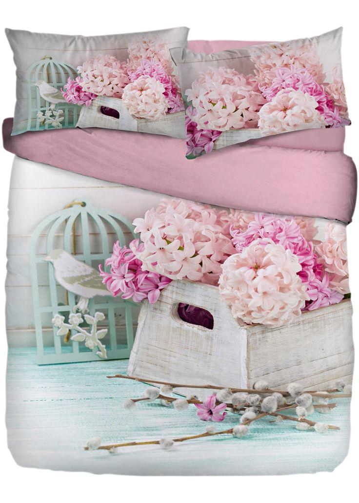 Biancheria letto Mara, Matrimoniale, Parure copripiumino Grigio chiaro/Rosa chiaro/Crema stampato è ordinabile nello shop on-line di bonprix.it da € 69,99. ...