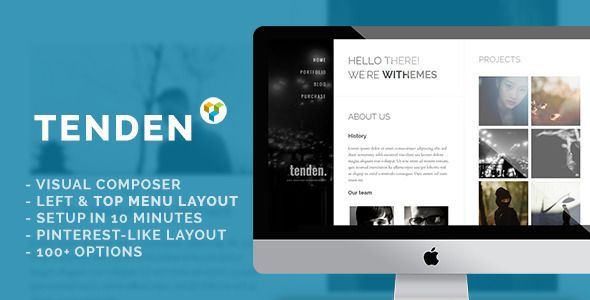 Tenden is specially designed for freelancers, personal blogs & agencies and those who need a quick setup portfolio or want a new-looking layout. View more now: