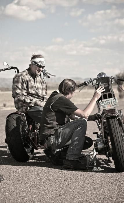 The Biker Code: Never leave a fellow rider on the roadside alone. Even if you can't do anything but provide company and morale support you NEVER leave a Biker alone and there is no mercy for a Biker who refuses to stop and check.