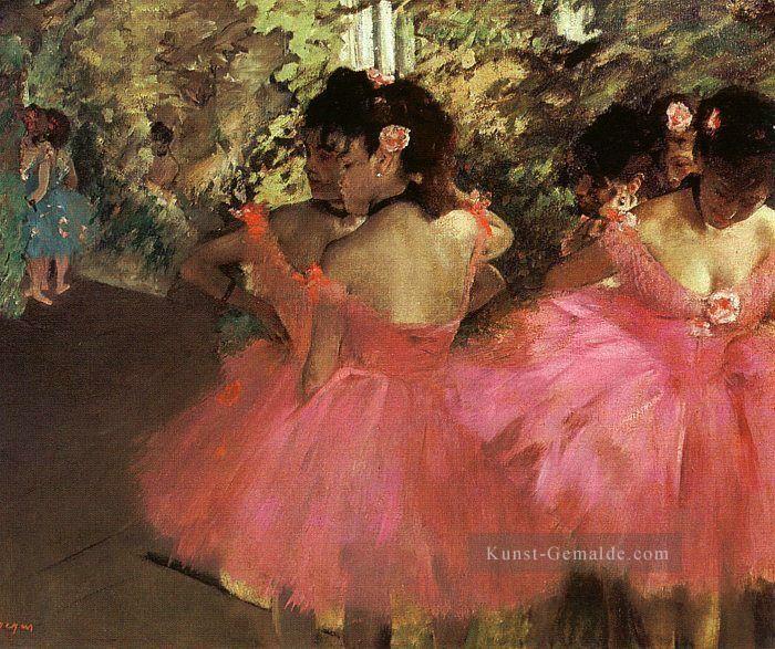 Dancers in Pink Impressionismus Ballett Tänzerin Edgar Degas Ölgemälden