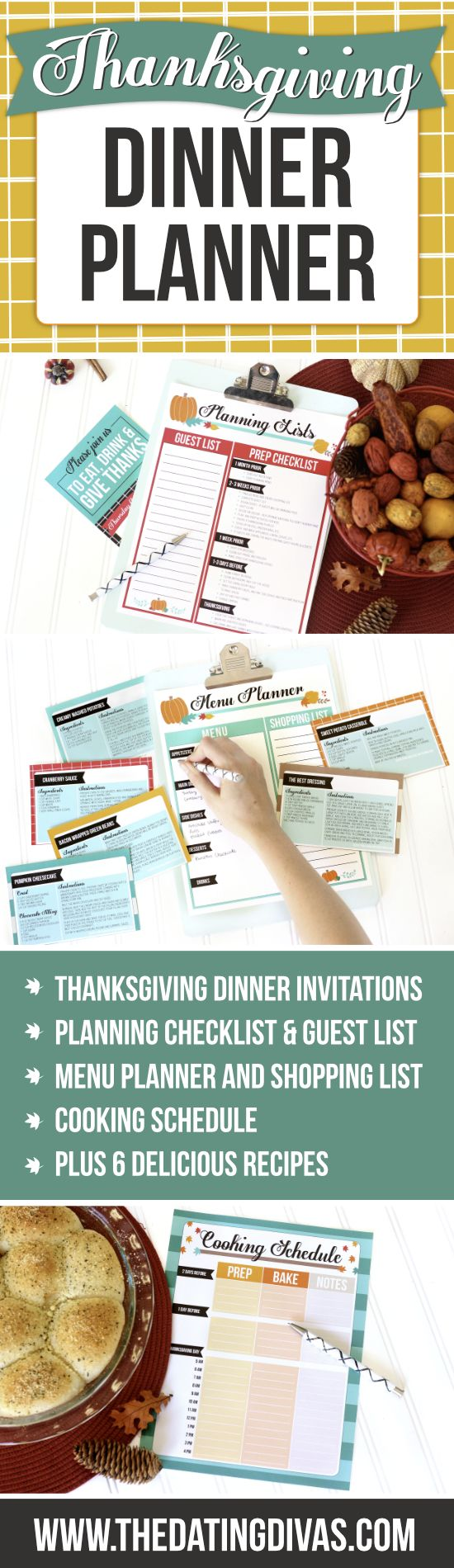 Hosting Thanksgiving dinner has never been so easy! This planning checklist and Thanksgving meal planner is a lifesaver.