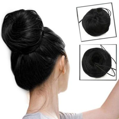 Just US$4.14 + free shipping, buy Short Synthetic Chignons Updo Bun Hair Extension online shopping at GearBest.com.