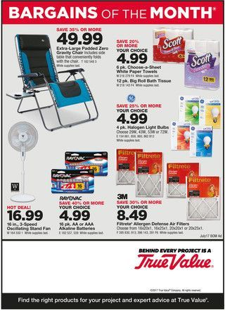 True Value Weekly Ad July 1 - 31, 2017 - http://www.olcatalog.com/true-value/true-value-weekly-ad.html