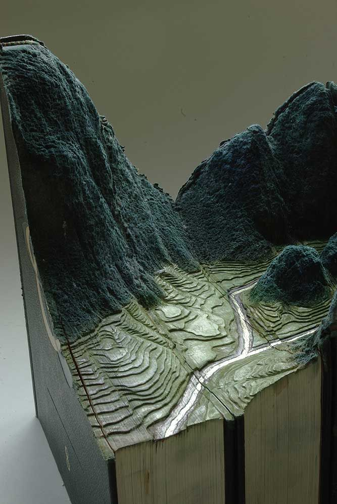 Guy Laramee--more carved books/inviting 'landscapes' ...... OMG AWSOME!!