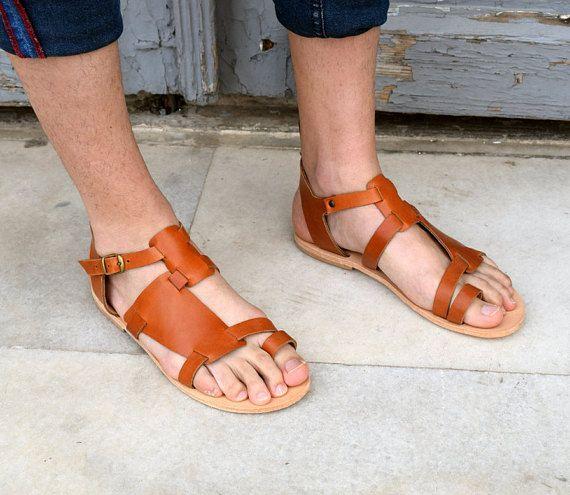 ca4e55785214 Men leather sandals  Gift for him  Greek sandals  Men sandals  fashion  sandals  designer sandals  Handmade sandals  Tampa sandals 2018 men