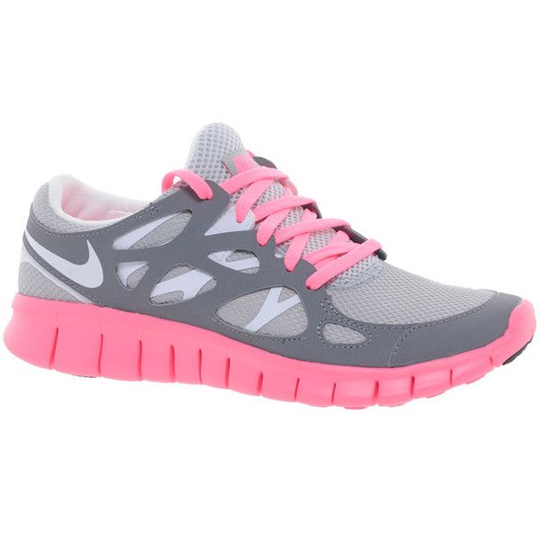 CheapShoesHub com  Nike Free Run shoes online outlet, large discount nike free shoes cheap, cheap discount free run shoes , Nike Free Running (+) 2 Gray and Pink Sneakers ($136) ❤ liked on Polyvore