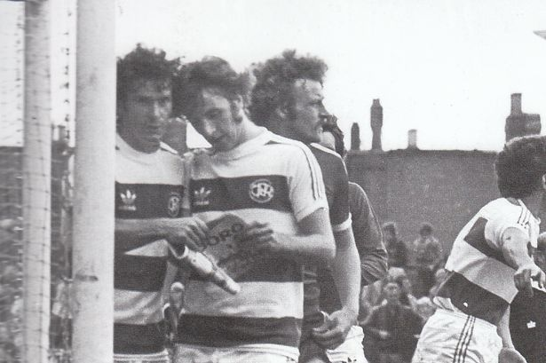 6th September 1978. At Ayresome Park, QPR's Stan Bowles and Ian Gillard read the match programme on the pitch while waiting for a corner. Luckily Middlesbrough hard man Billy Whitehurst is looking the other way.
