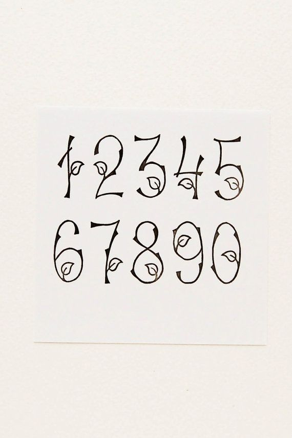 Woodland Numbers Stamps Birthday gift Set of 10 by WoodlandTale