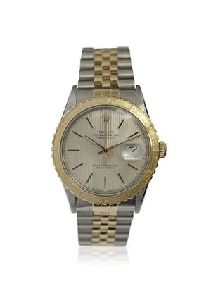 Rolex Men's Datejust Silver Stainless Steel/18K Yellow Gold Watch