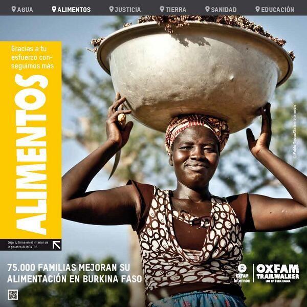 Y esta es la lona que encontraran en el siguiente control, #BurkinaFaso y la lucha por la Alimentación #OITW