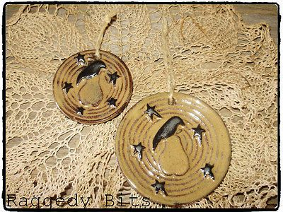 **~Primitive Crow, Pear and Star Ornis- SET OF 2~** $10