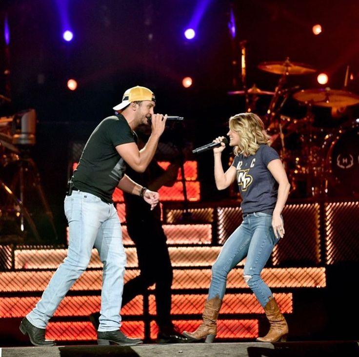 Carrie Underwood and Luke Bryan in Nashville Photo Credit:@lukebryan