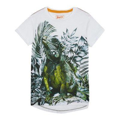 Mantaray Boys' white lizard print t-shirt | Debenhams