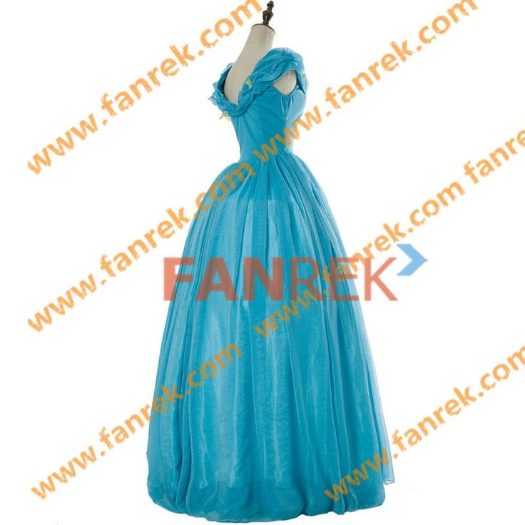 Cinderella 2015 Movie Cosplay Cinderella Lily James Dress
