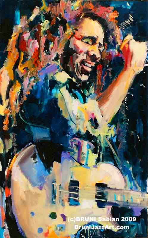 Bob Marley Art Painting by BRUNI Sablan