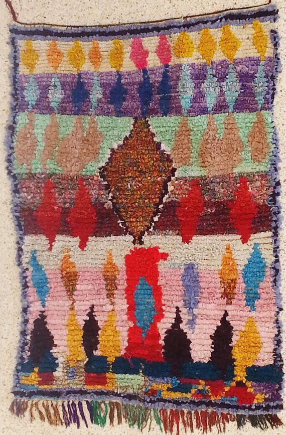 T15096 boucherouite rug moroccan rugs  rag rug berber tribal art morocco carpets wall art & 139 best oriental carpets images on Pinterest | Carpets Weaving and ...