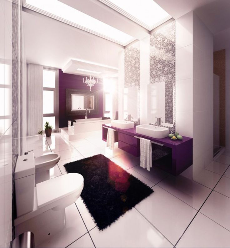 Best Washroom Decor Images On Pinterest Bathroom Designs - Purple bathroom decor for small bathroom ideas