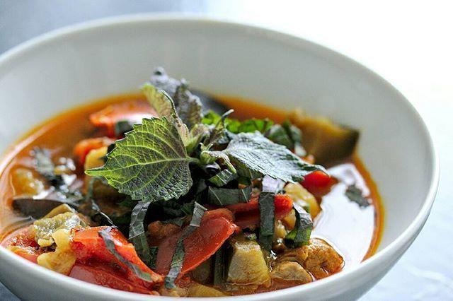 Canh Cà Bung  Tomato eggplant tofu and pork rib soup http://crwd.fr/2FLGocm
