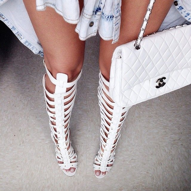 Chanel. And Gladiator Shoes.