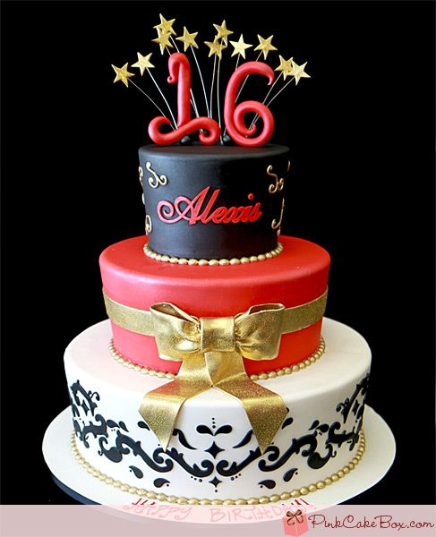 Alexis's Sweet 16 Cake by Pink Cake Box
