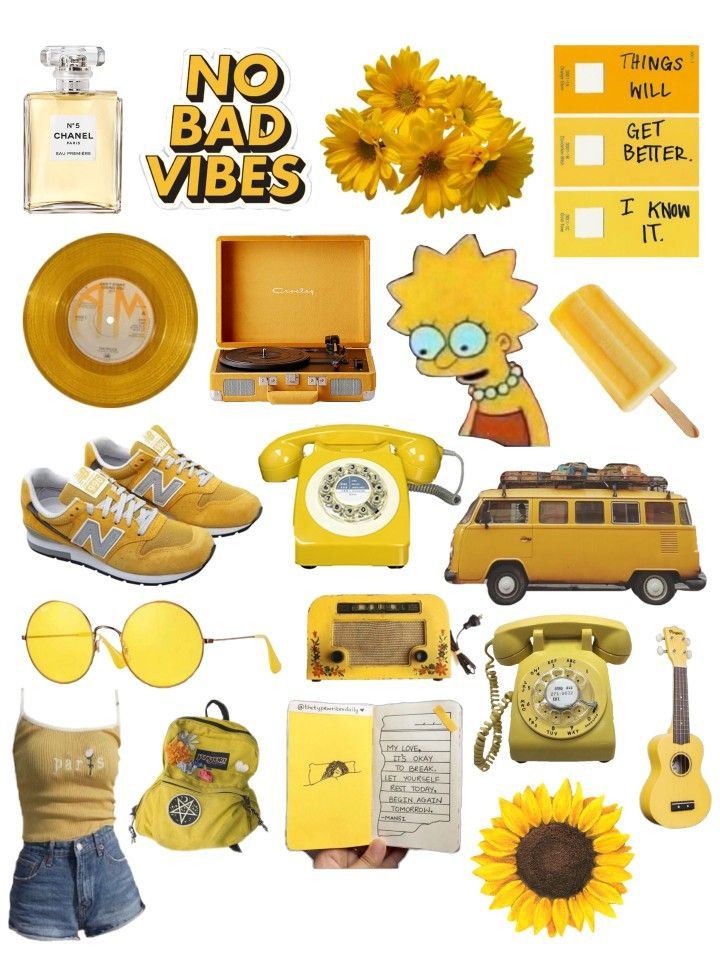 Yellow Aesthetic Printable Free Tumblr Vintage Stickers With