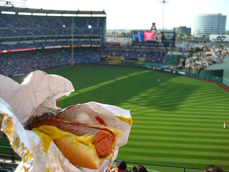 Hot dog @ Angel Stadium of Anaheim, Anaheim, CA.