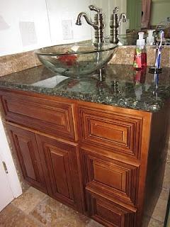 Design By Sy: Bathroom Sink Remodel #2: Koi Fish Vessel Sink