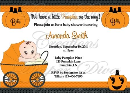 Best Halloween Baby Shower Invitations Images On Pinterest - Halloween baby shower invitations