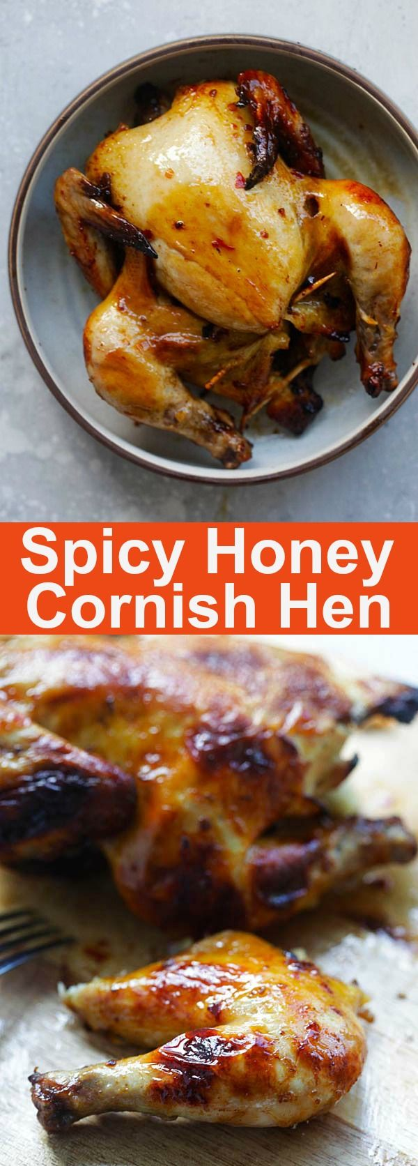 Spicy Honey Roasted Cornish Hen – tender, juicy and perfectly roasted Cornish Hen with honey and spices. So good you'll eat the whole bird | rasamalaysia.com