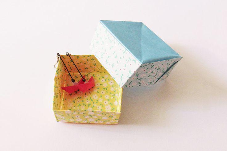 Tutoriel diy faire une bo te bijoux en origami via - Fabriquer une boite a bijoux ...