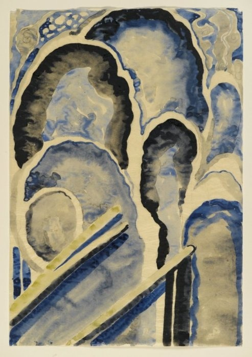Georgia O'Keeffe, Blue No. 1, ca. 1916 | Watercolor and graphite on paper