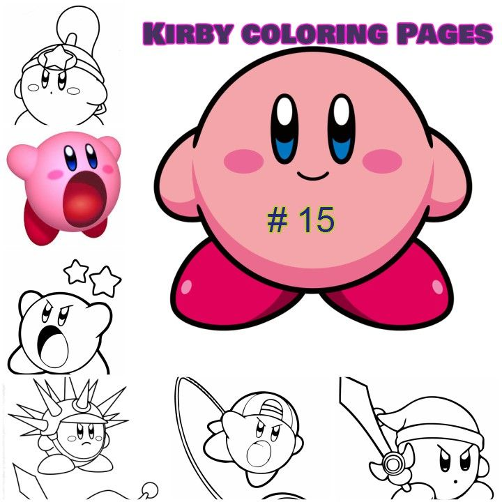 kirby coloring pages for kids