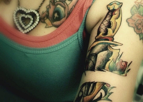 17 best images about tattoo traditional knife on pinterest for Tattoos on old skin