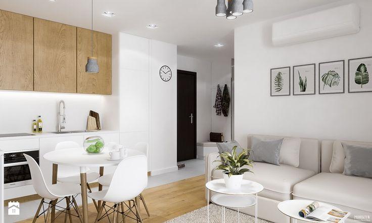 Projekt mieszkania. Kraków Nowe Czyżyny - Salon, styl skandynawski - zdjęcie od PRØJEKTYW | Architektura Wnętrz & Design