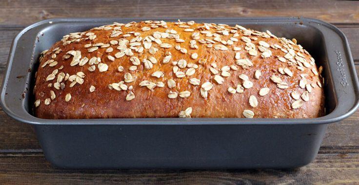 Mit vegan Aternative! Honig Hafer Brot