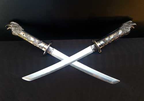 Eagle Head Wakizashi Swords. Great for display. Comes with scabbard and stand. Pick them up from http://stores.ebay.com.au/mAntique-Australia