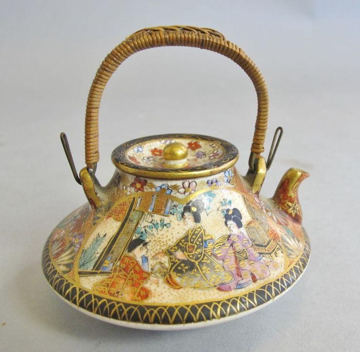 Fine Quality Japanese Meiji Era Antique Satsuma Miniature Teapot C 1890 | eBay