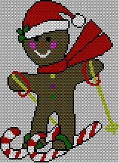 Gingerbread Man Jumper Knitting Pattern : Christmas Gingerbread Man Jumper / Sweater Knitting Pattern pattern by Blonde...