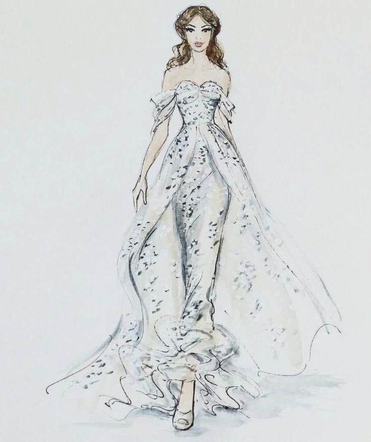 Best 25 Wedding Dress Sketches Ideas On Pinterest From