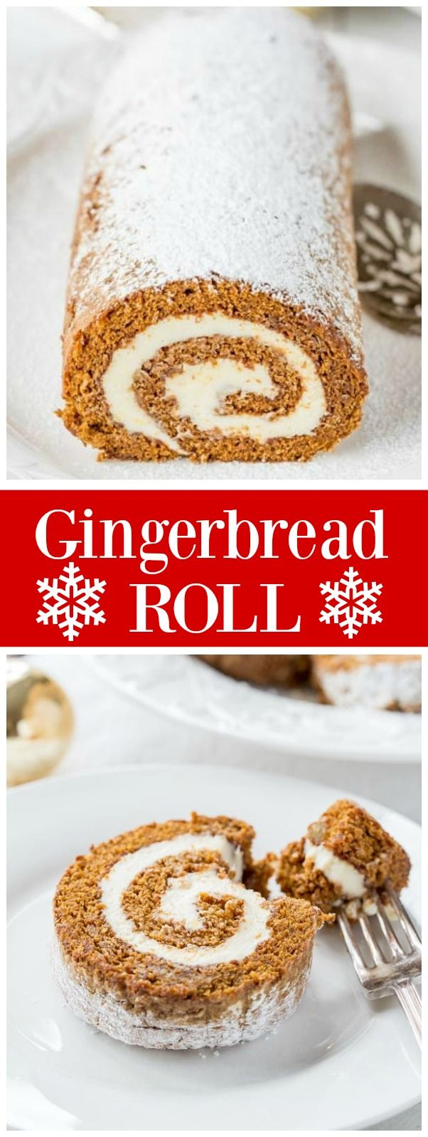 This easy Gingerbread Roll recipe is the perfect elegant holiday dessert recipe! From @recipegirl