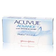 Acuvue Advance  Acuvue Advance zijn weeklenzen die speciaal ontworpen zijn voor een comfortabel gevoel in het oog. Acuvue Advance lenzen zijn extra dun. Dankzij hun speciaal ontworpen kanten voelen ze comfortabeler aan en zijn ze eenvoudiger te hanteren. Ze laten extra veel zuurstof door en bevochtigen de ogen waardoor ze uiterst geschikt zijn voor lensdragers die gewoonlijk ervaren dat hun ogen droog aanvoelen. Acuvue Advance lenzen zijn gekleurd voor eenvoudigere hantering en beschermen de…