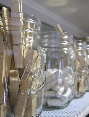 You can't go wrong with Mason Jars for little storage solutions. #Organization #CatherinesPick