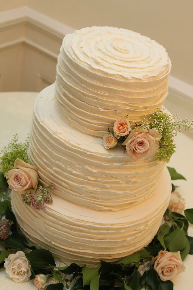 ruffled buttercream wedding cakes - Google Search